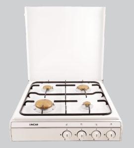 Kocher weiß 4 - flammig